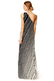 Draped Stripe Maxi Dress by Halston Heritage for $158 | Rent the ...