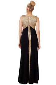 Golden Trim Gown by Theia