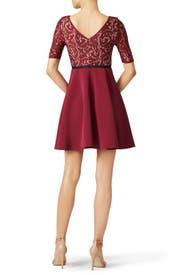 Burgundy Percy Dress by Slate & Willow