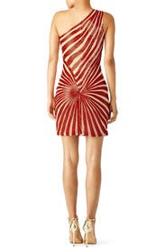 Red Shimmering Jazz Dress by NAEEM KHAN