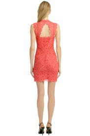 Coral Fair Lady Dress by Nicole Miller