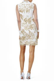 Delicate Gold Sheath by Marchesa Notte