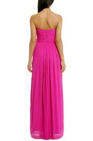 Fluorescent Chiffon Gown by Badgley Mischka