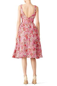 Pink Multi Floral Dress by ML Monique Lhuillier for $50 - $70 ...