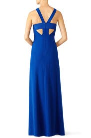 Royal Blue Long Cut Gown by Halston Heritage