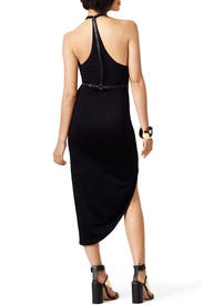 Black Scarface Dress by Halston Heritage