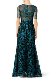 Teal Elizabeth Gown by Marchesa Notte