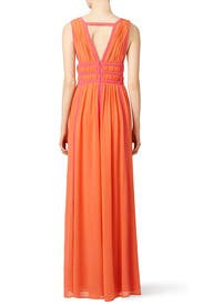 Sunset Pink Gladiator Gown by Nicole Miller