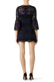Wavy Stripe Bell Sleeve Dress by Cynthia Rowley