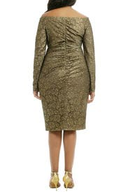 Rush Of Gold Dress by Carmen Marc Valvo