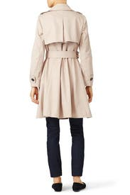 French Beige Classic Twill Trench by kate spade new york