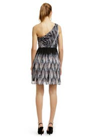 One Shoulder Pirouette Dress by Tibi