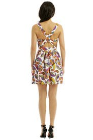 Memphis Cross Back Dress by MSGM