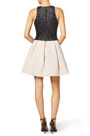 Two-Tone Dress by Halston Heritage