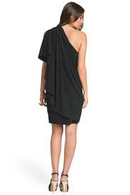 One Shoulder Draped Back Dress by Carlos Miele