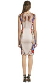 Color Warped Sheath by Alberta Ferretti