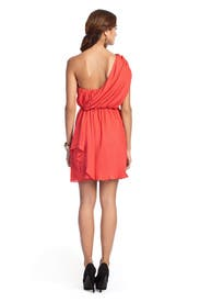Vermillion One Shoulder Dress by Tibi