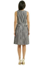 Side Peplum Pleat Dress by Suno