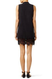 Black Lace Hem Lucida Dress by Equipment
