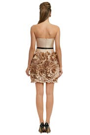 Almond Rosette Dress by Milly