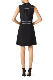 Black Bow Tie Dress by BOUTIQUE MOSCHINO