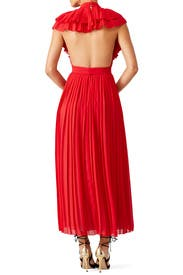 Red pleated dress Philosophy di Lorenzo Serafini wO0bOTE