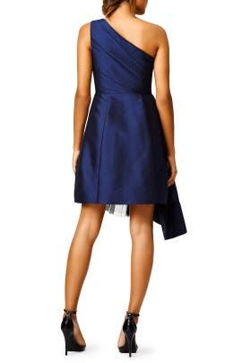 Navy Stream Dress by ML Monique Lhuillier
