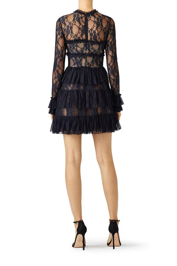 Bailey 44 Circle Ruffle Lace Dress