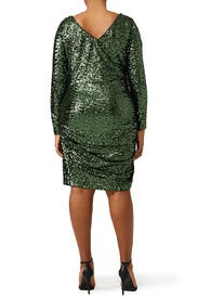 Sequin Shamrock Dress by Badgley Mischka