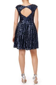 Blue Botany Dress by Badgley Mischka