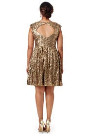 Golden Flower Dress by Badgley Mischka