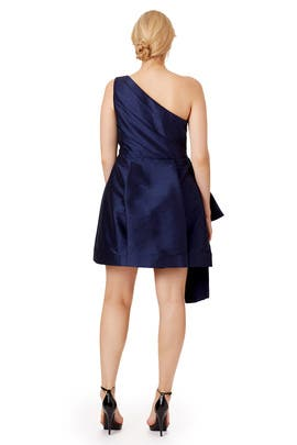 Navy Stream Dress by ML Monique Lhuillier