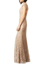 Glitter in Gold Gown by ML Monique Lhuillier