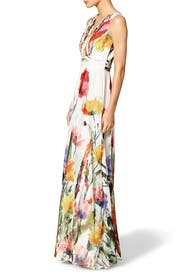 Painted Petals Maxi Dress by Badgley Mischka