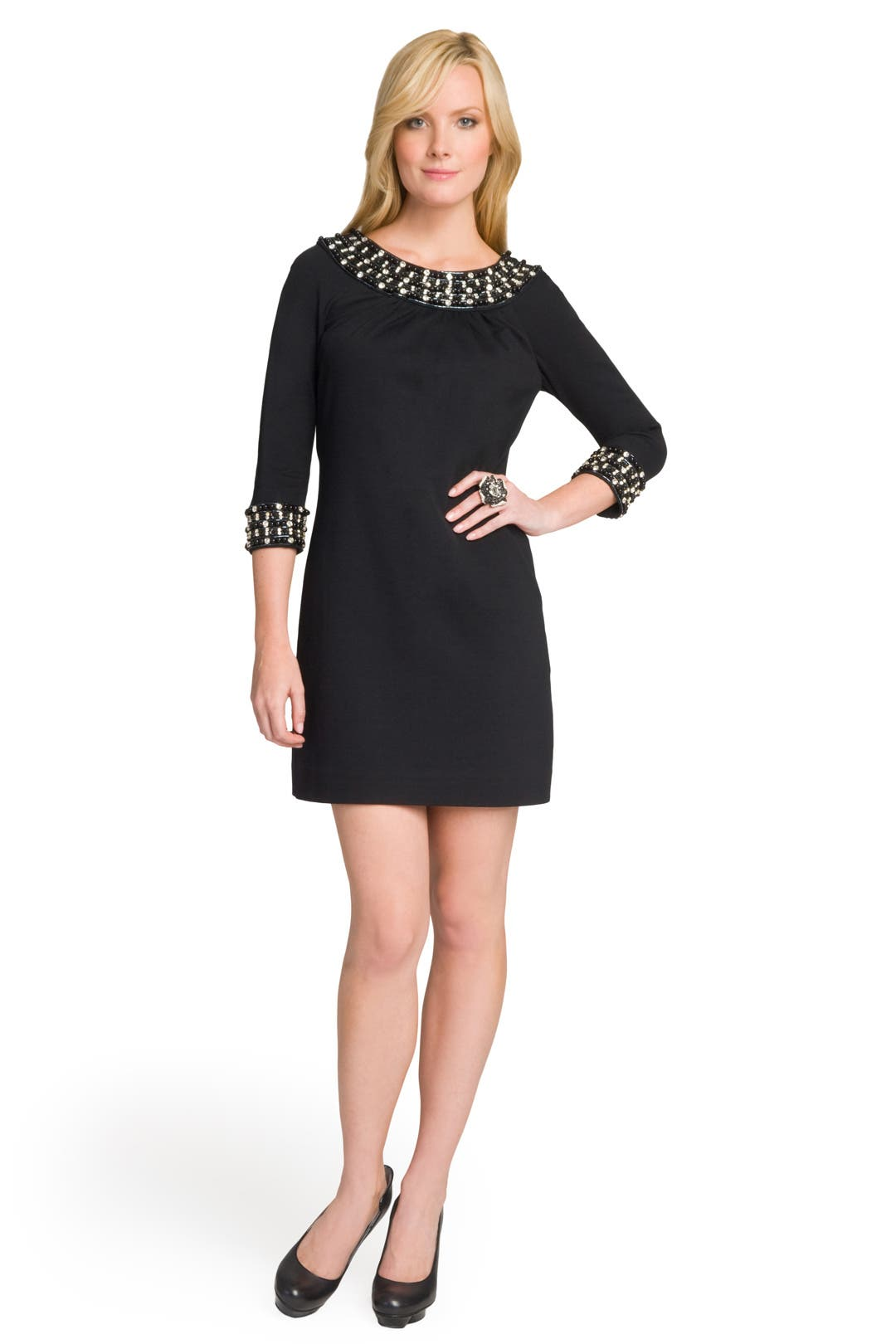 Glam Beaded Collar Dress by Milly