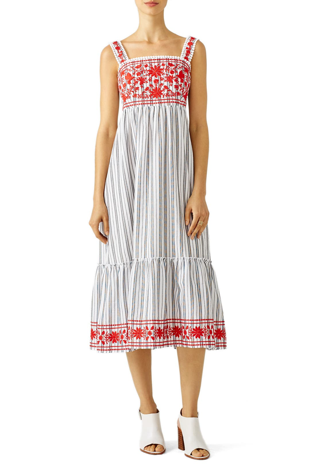 94c5ef6ba7cdf Stripe Embroidered Maxi Dress by kate spade new york for $55 | Rent ...