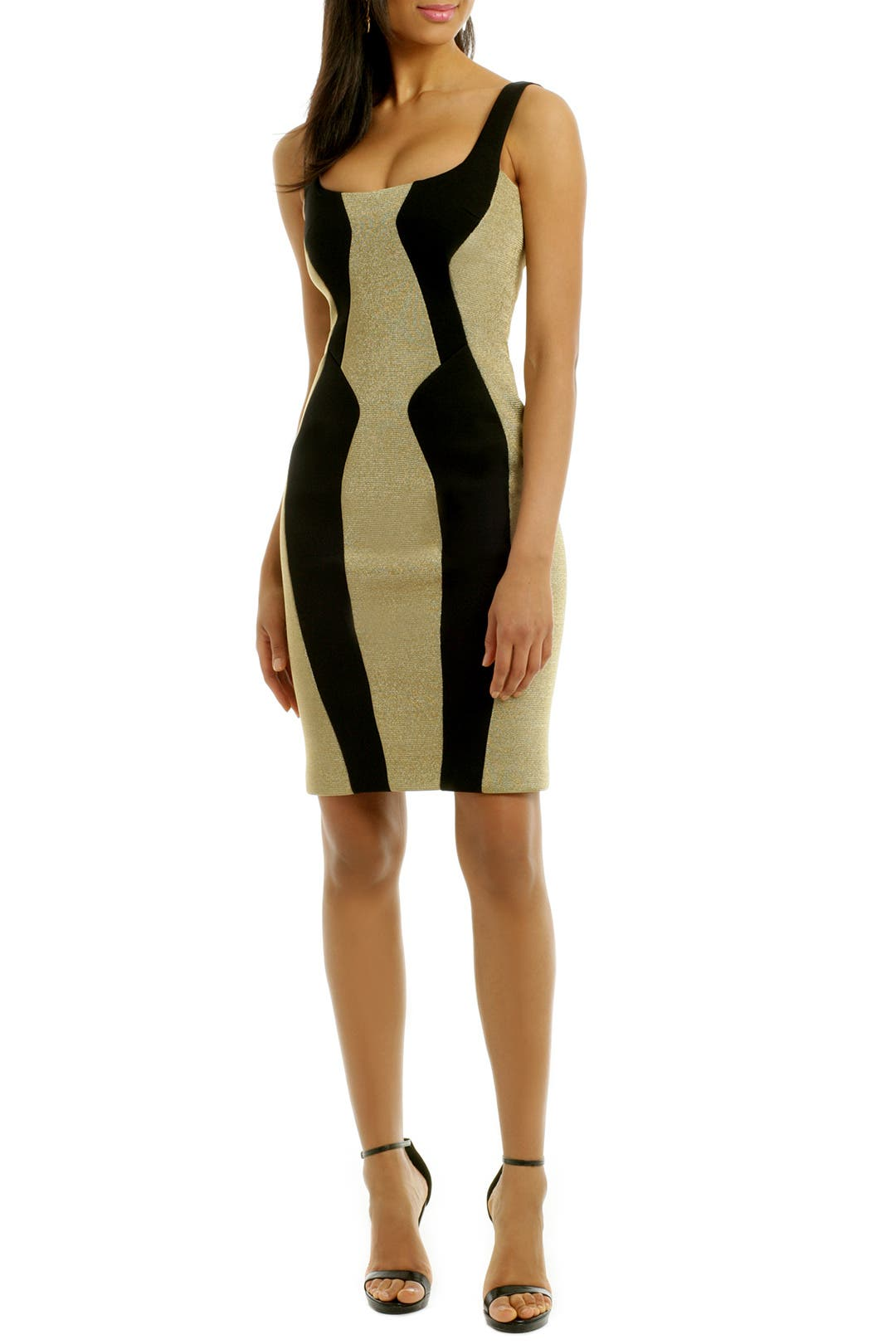 Metal Contour Cut Away Dress by Josh Goot