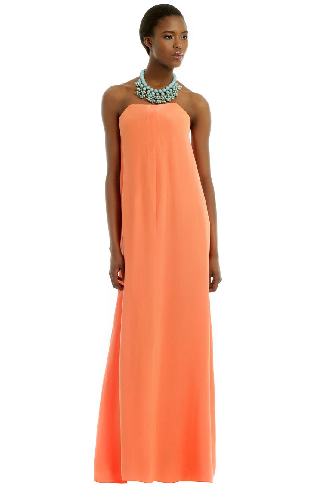 Tangerine Spritzer Gown by Cedric Charlier