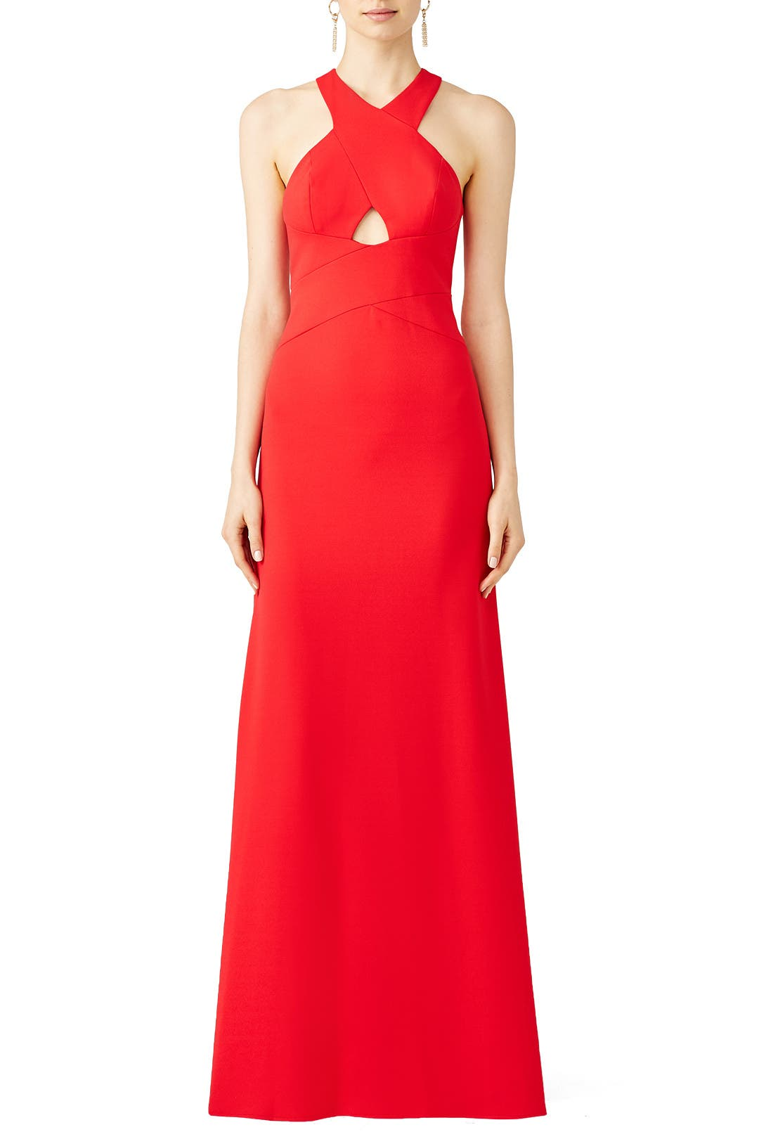 Red Cutout Halter Gown By Aidan Mattox For 60 Rent The