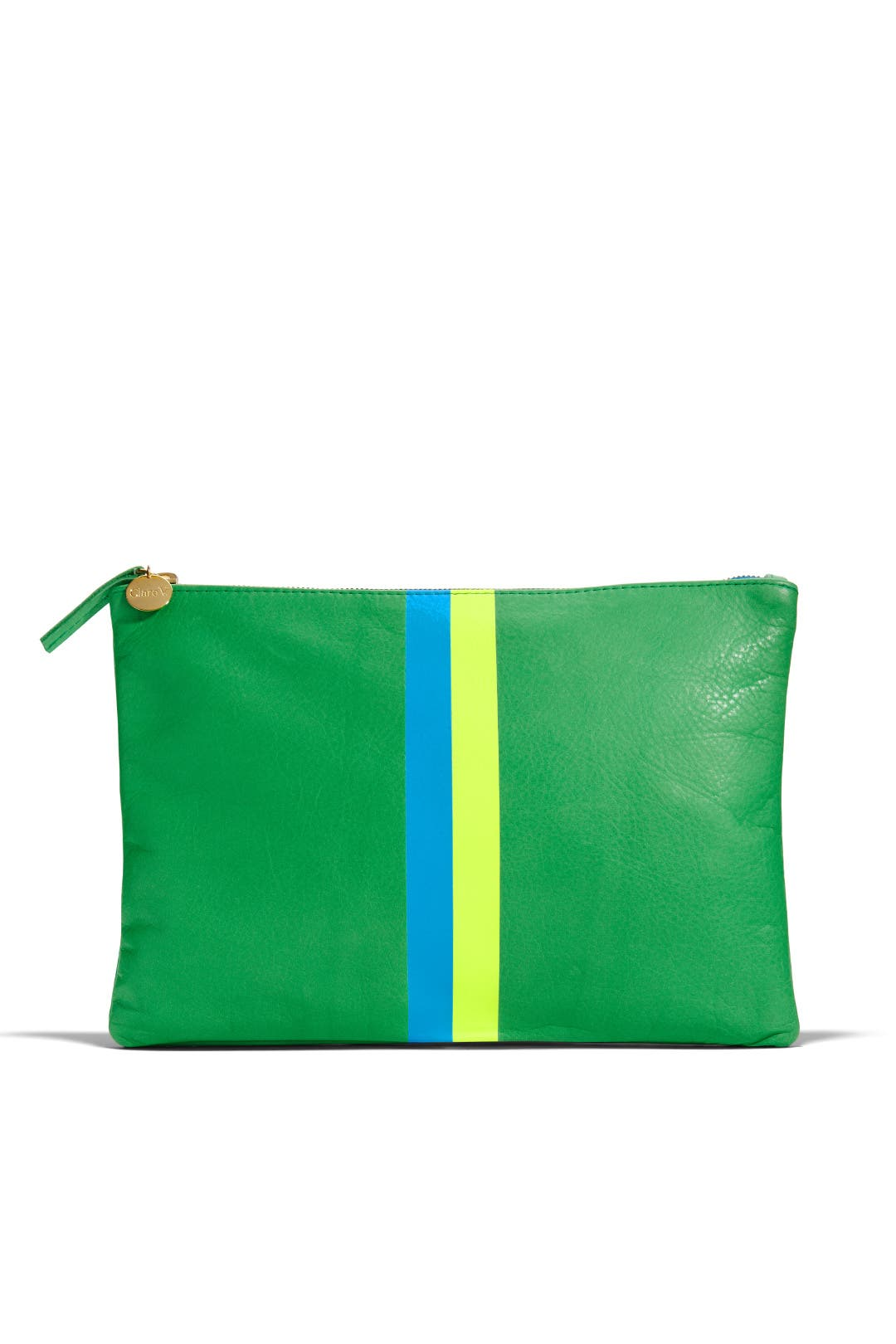 Sour Apple Clutch by Clare V.