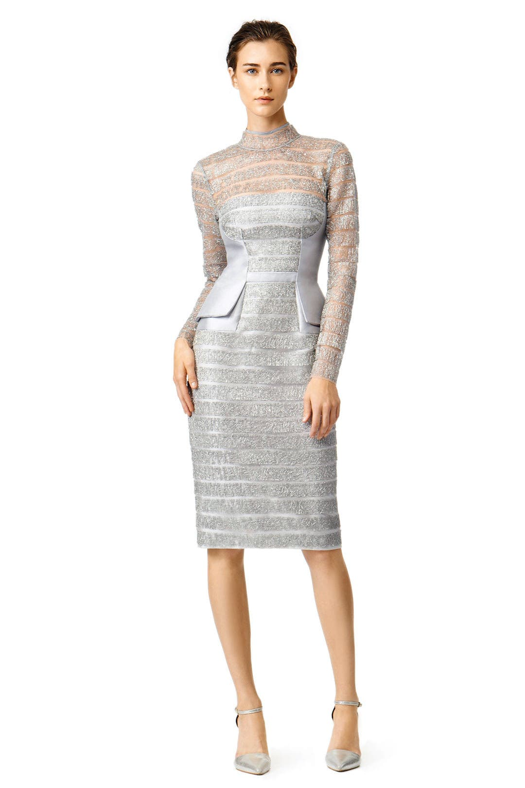 Lines of Lace Dress by Bibhu Mohapatra