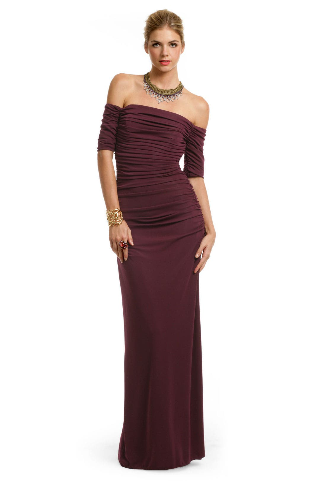 Venetian Wine Gown by Badgley Mischka