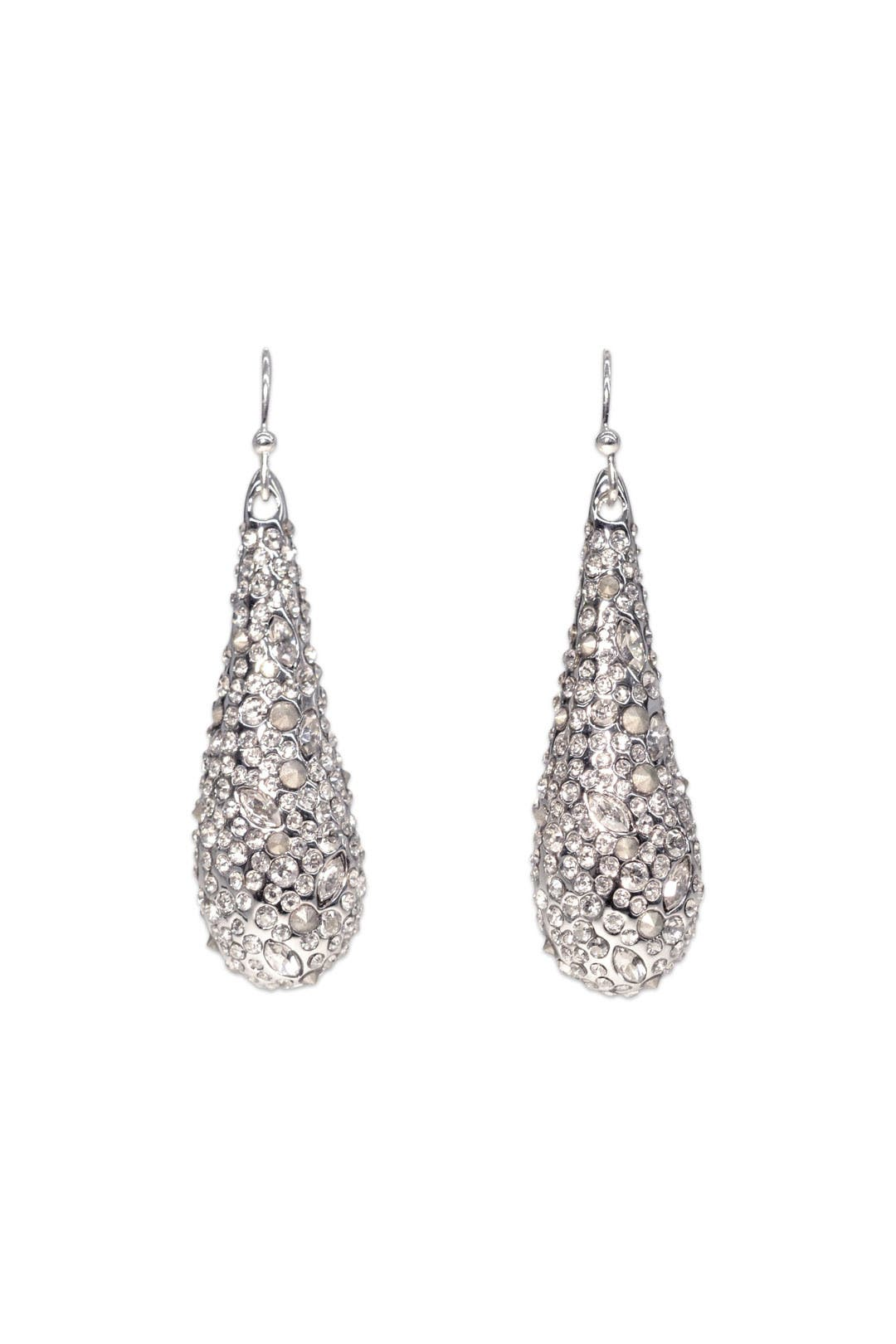 Silver Pave Teardrop Earring by Alexis Bittar