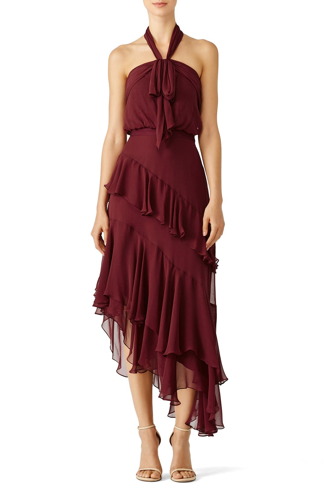 Burgundy Valle Dress By Cinq 224 Sept For 90 Rent The Runway