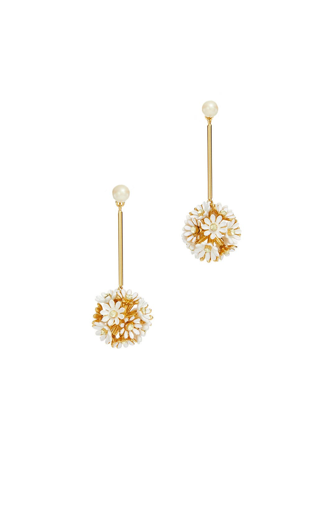 3f19164454d09 kate spade new york accessories White Daisy Drop Earrings