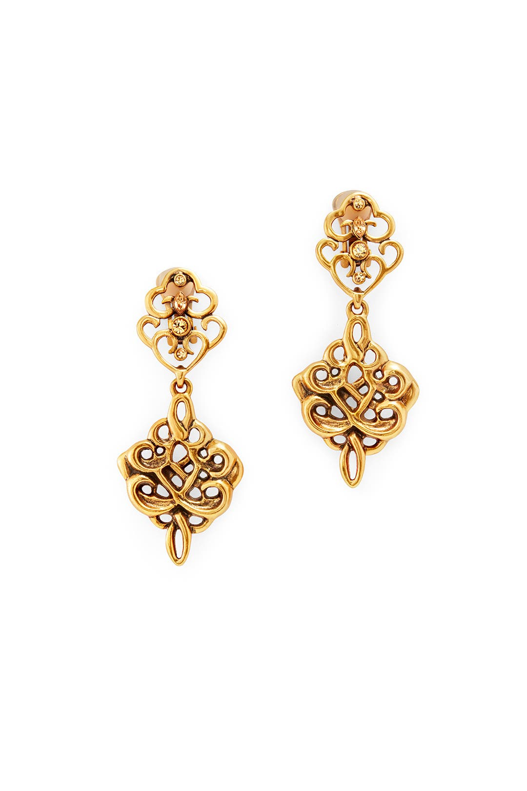 Lacework Drop Earrings by Oscar de la Renta