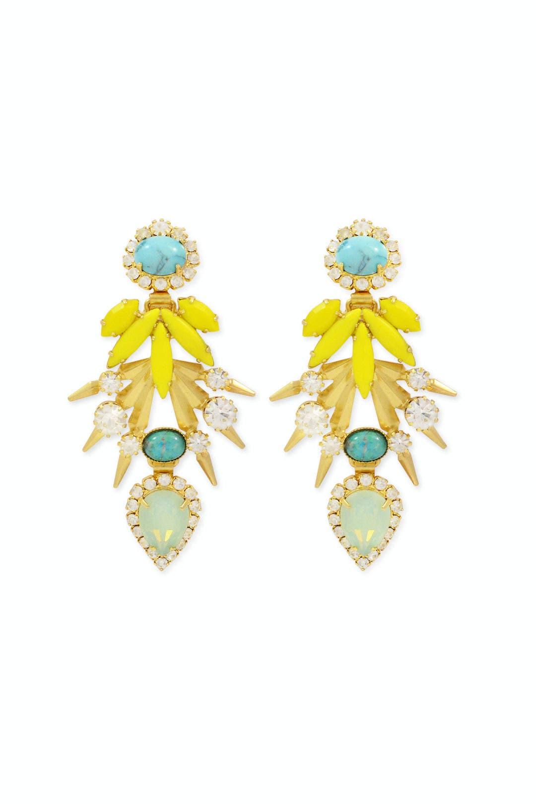 Bird of Paradise Earrings by Elizabeth Cole
