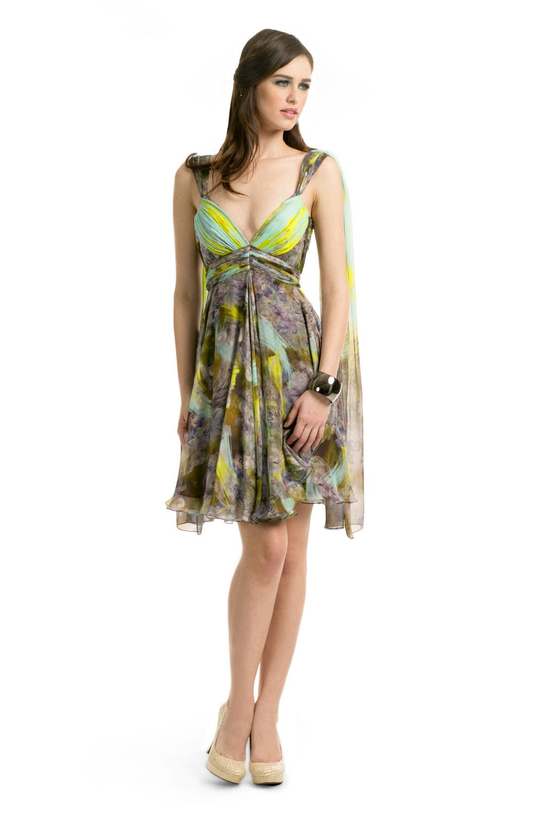 Lime Brushstroke Dress by Matthew Williamson