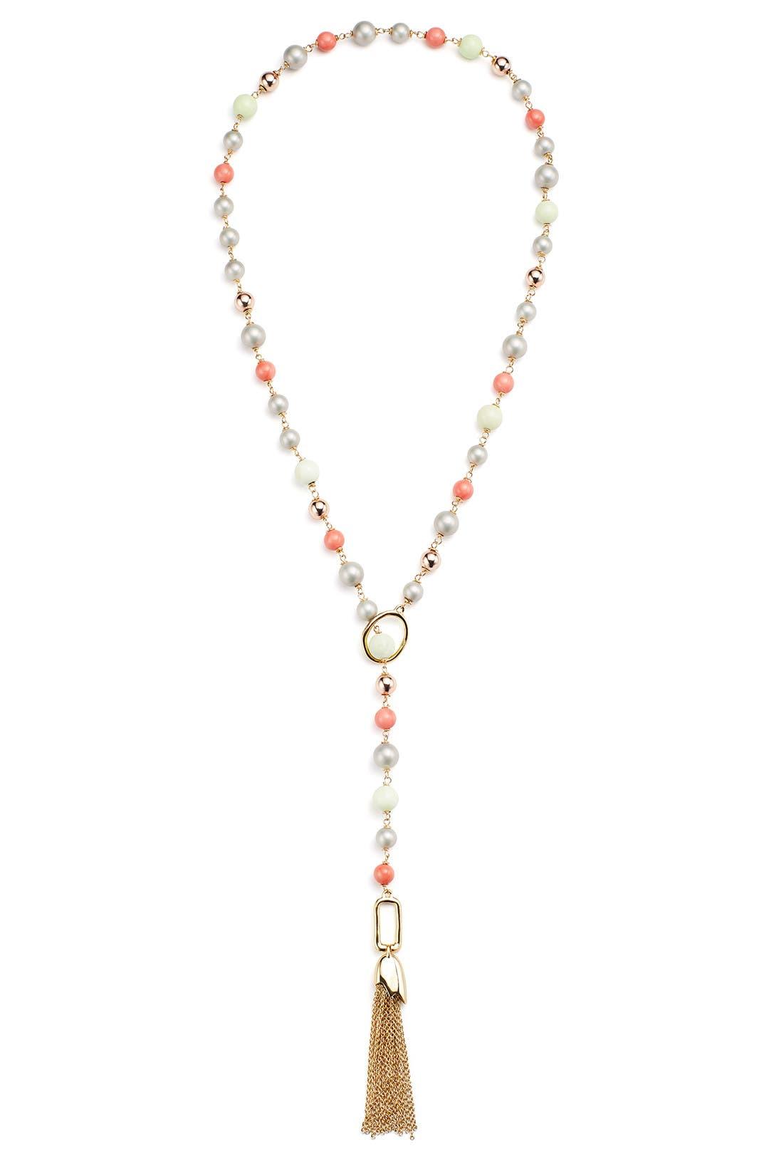 Alexis Bittar Beaded Lariat Tassel Necklace ylTwnYk8
