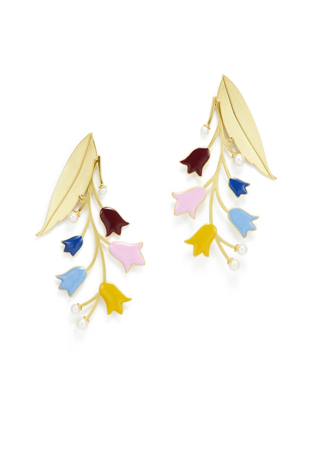 Tory Burch Bellflower Statement Earrings